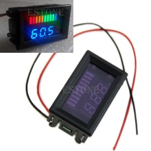 A96 Nice 12v Acid lead batteries indicator Battery capacity LED Tester w/ voltmeter