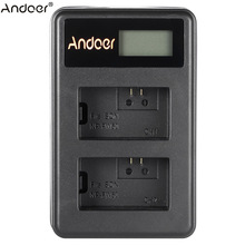 Andoer NP-FW50 Rechargeable LED Display Li-ion Battery Charger Pack 2-Slot USB Cable Kit for SONY Alpha A7 A7R A7S A5000