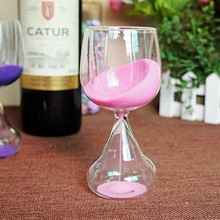 Wineglass crystal glass sand hourglass countdown timing sand clock timer home decoration craft gift bar
