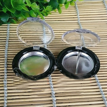 100pcs/lot 36.5mm Empty Eyeshadow Case, Round Powder Cosmetic Compact Container, Small Empty Nail Beauty Packing Box