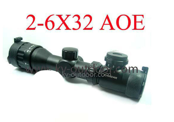 caza Free shipping Hunting Rifle scope 2-6x32AOE   made in China hunting scopes<br><br>Aliexpress