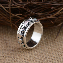 GZ 925 Sterling Silver Ring Elephant Pattern S925 Thai Silver Rings for Women Men Jewelry anillos Male(China)