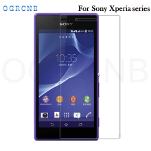 0.3mm 9H Hard Tempered Glass for Sony Xperia T3 T2 M2 M4 M5 2.5D Round Border High Transparent Screen Protector Film