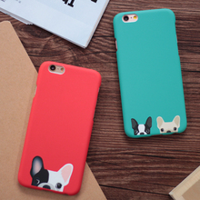 Cartoon Cute Pocket Dogs Phone Cases For iphone 5 5S SE 6 6S Plus Back Cover Red Green Color Dog Capa Fundas Coque YC1933(China)