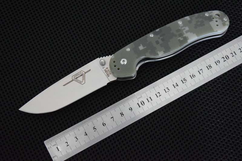 TRSKT RAT 1 Tactical Folding Knife Pocket Knives AUS-8 steel Blade G10 Handle Camping Hunting Survival Knife Outdoor EDC Tools