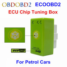 Upgraded ECO OBD2 Benzine Car Chip Tuning Box With Reset Button EcoOBD2 OBDII Refresh Decrease 15% Fuel Consumption Plug & Drive