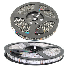 Free shipping 5m/lot Waterproof LED Strip White PCB SMD 5050 DC12V Light Fiexble Light Led Ribbon Tape Home Holiday Decor(China)