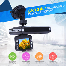 New Arrival VGR - B Car Laser Radar Full Band Detector DVR Camera 720P 30FPS Dash Camera Recorder Russian And English Voice