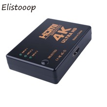 Elistooop 4K*2K HDMI Switch 3 Port Switcher Splitter Box Ultra HD for DVD HDTV Xbox PS3 PS4(China)