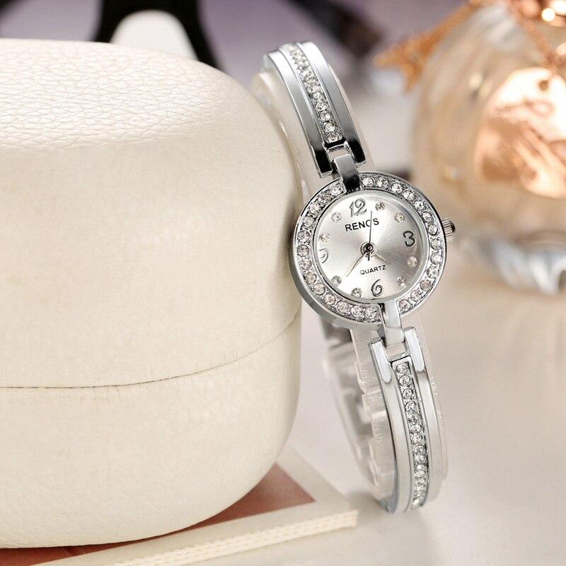 RENOS 2017 Quartz Watch Women Crystal Rhinestones Stainless Steel Bracelet Ladies Luxury Wristwatch relogio feminino reloj mujer<br><br>Aliexpress