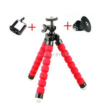 Gopro camera tripod Flexible Leg Mini Tripod for iphone 5 5s Gopro Hero 3+ 3 4 For Samsung HTC LG All Smart Phone
