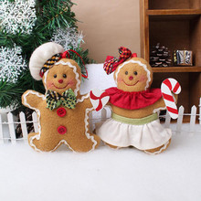 Christmas Hanging Pendant Christmas Tree Ornaments cloth cookie doll plush Xmas tree widgets The unicorn Gingerbread man(China)