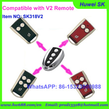 100pcs/lot high quality 4buttons after market Italia V2 remote, 433.92MHz key for V2 garage door