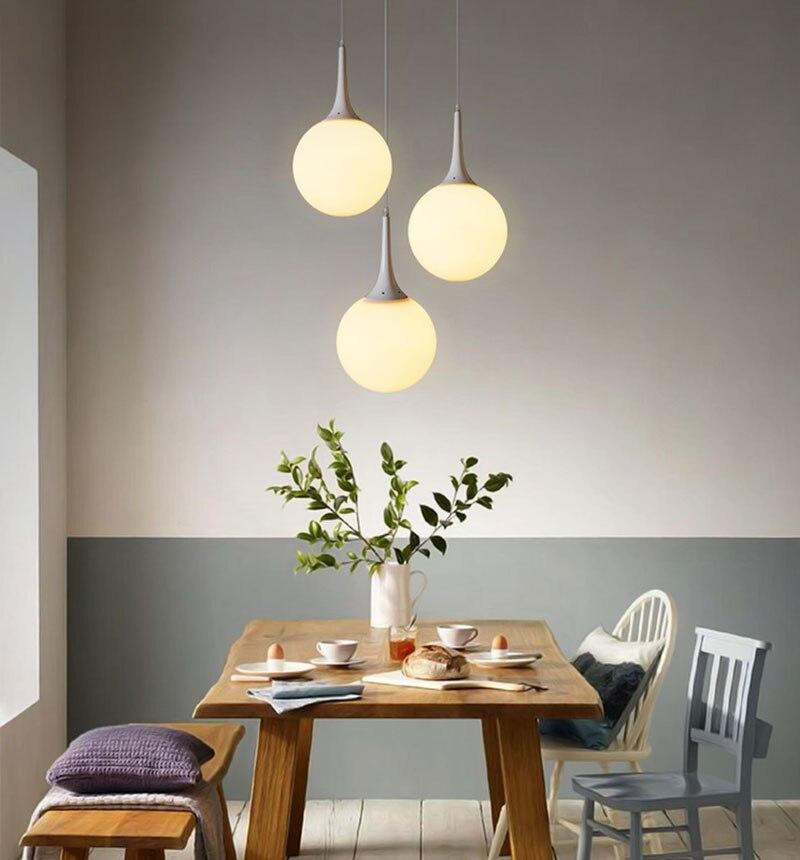 2016 Modern Pendant Lights Metal-LED Pendant Lamp Ball with Edison Bulb for Kitchen/Bar Dining Room Bedroom,E27,110V/220V,White<br>