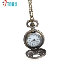 OTOKY Unique Design Pocket Retro Leaves Vintage Style  Chain Necklace Watch keychain Drop ship F30