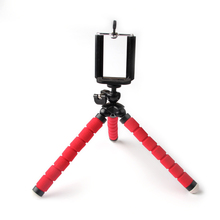 Universal Phone holder flexible tripod, camera stand red octopus for iphone mobile picture photo taking sport accessories(China)