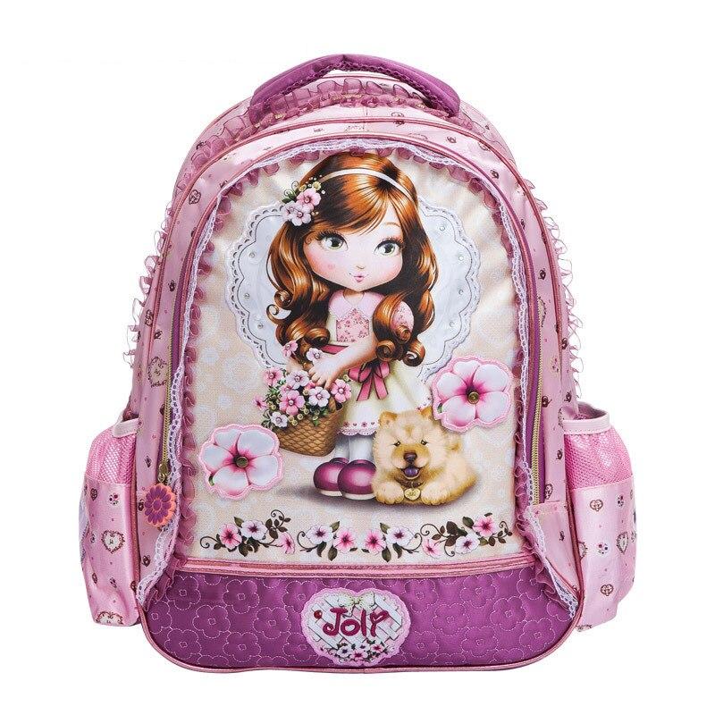 2017 new babi Lovely Cartoon Barbie Princess School Bags For Girls Children Kids Backpack School Mochila Infantil  4444<br><br>Aliexpress