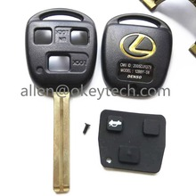 Remote 3 Button Key Shell +   For Lexus GX470 RX350 ES300 RX3RX400h SC GS LS No Chip Uncut Blank Case Covera+Get Key button skin