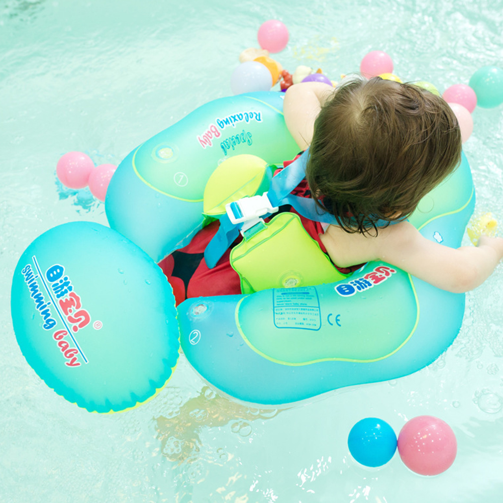 Baby Swimming Ring Kids Swimming Pool Accessories Circle Bathing Inflatable  Double Raft Ring with Pump for 2-4 Year Old Children