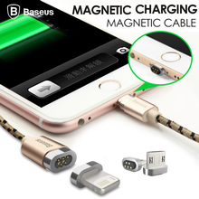 Baseus Magnetic Micro USB Cable Adapter Data Sync Charging Cable For iPhone 6 7 6s se 5s 5 Red iPad Air Samsung Magnet Charger