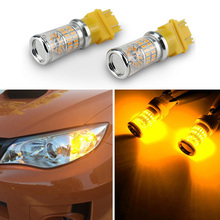 2x High Power T25 3156 3157 48 SMD 3014 LED Turn Signal Lights bulbs Car Light Source Amber Yellow