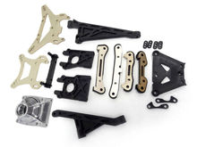 King Motor X2 Shock Tower, Chassis Hinge Pin Braces Kit Fit LOSI 5IVE-T Rovan LT(China)