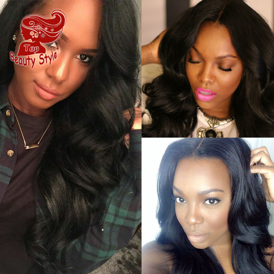 2017 Body Wave Wigs With Baby Hair Synthetic Lace Front Wig Natural Cheap Hair Wig For Black Women Hot Selling<br><br>Aliexpress