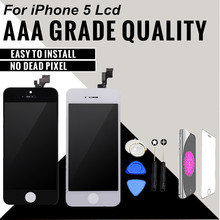 1PCS Tinama No Dead Pixel LCD For Apple iPhone 5 LCD Display With Touch Screen Digitizer Assembly Free Shipping(China)
