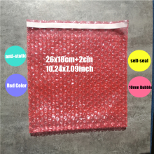 26*18+3cm 50Pcs Red & Anti static Bubble PE Self Sealing Bubble Envelopes Wrap & Bag Inflatable Bag Bubble Film Packaging Foam(China)