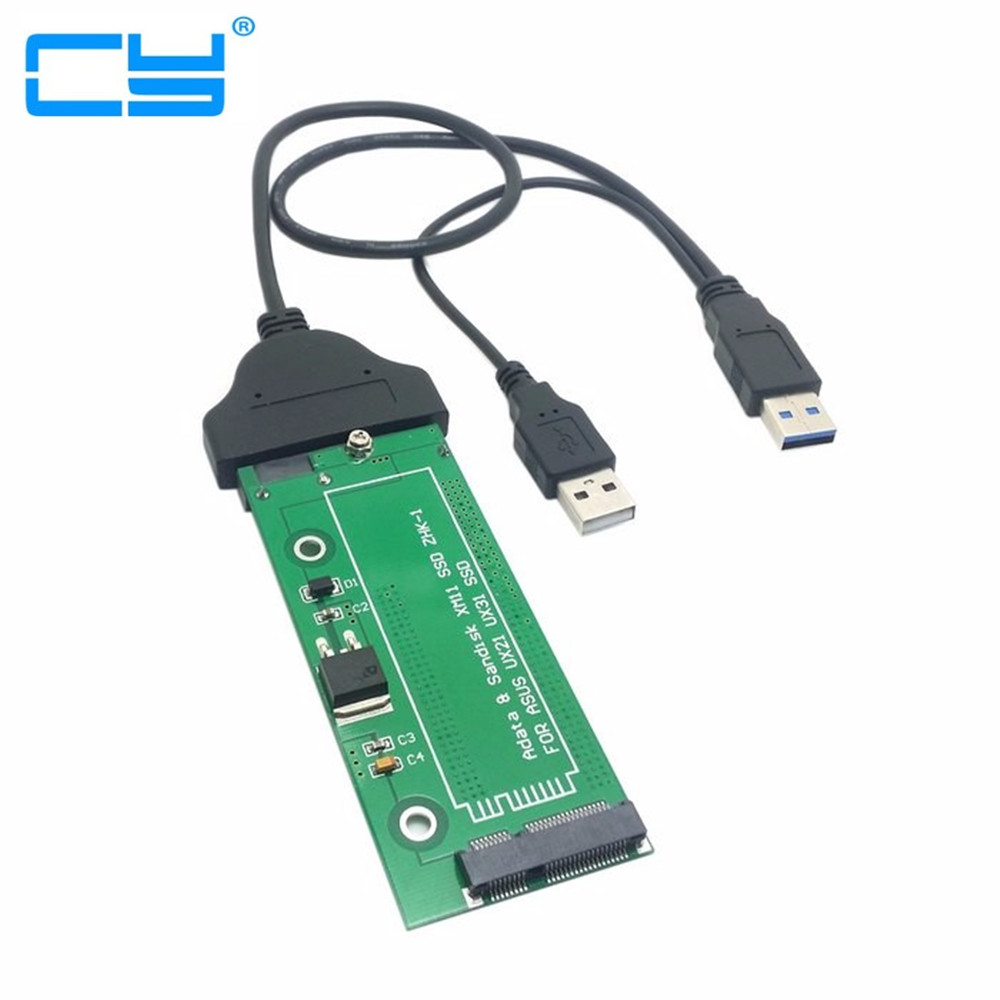 "10PCS/SATA AdapterAdaptor card USB3.0USB3.0sataCable adapter connector For ASUS EP121 UX21 UX31 SANDISK ADATA XM11 SSD 2.5"" 3.5"""
