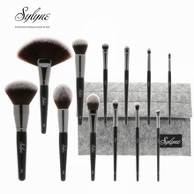 Sylyne 12pcs professional makeup brush set holder high quality soft face & eye make up brush kit tools.
