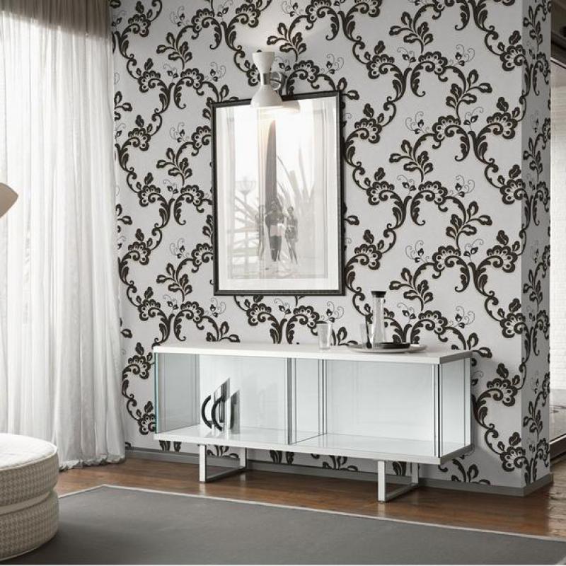 Light Gray European Style Wallpaper Imitation Leather Living Room Background Wallpaper Pvc 3d Embossed Wallpaper Paper Roll<br>