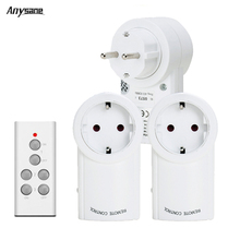 Anysane indoor wireless remote control electronic outlet switch for household appliances,EU standard 433MHz learning code white