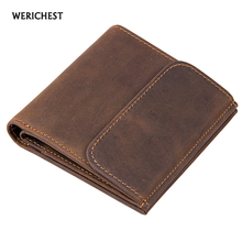 WERICHEST Men Wallets Brand Design High Quality Genuine Leather RFID Wallet Male Hasp Fashion Dollar Price Coin Purse Wallet(China)