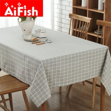 Lattice Tablecloth 5 Styles Canvas Tablecloth For Restaurant Hotel Kitchen Table Cloth Cover Meeting Room Decoration FM004-40