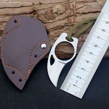 Mini Pocket Knife Claw Karambit Knife Fixed Blade Knife EDC Survival Knive Camping Outdoor Tools With Leather Sheath R18(China)