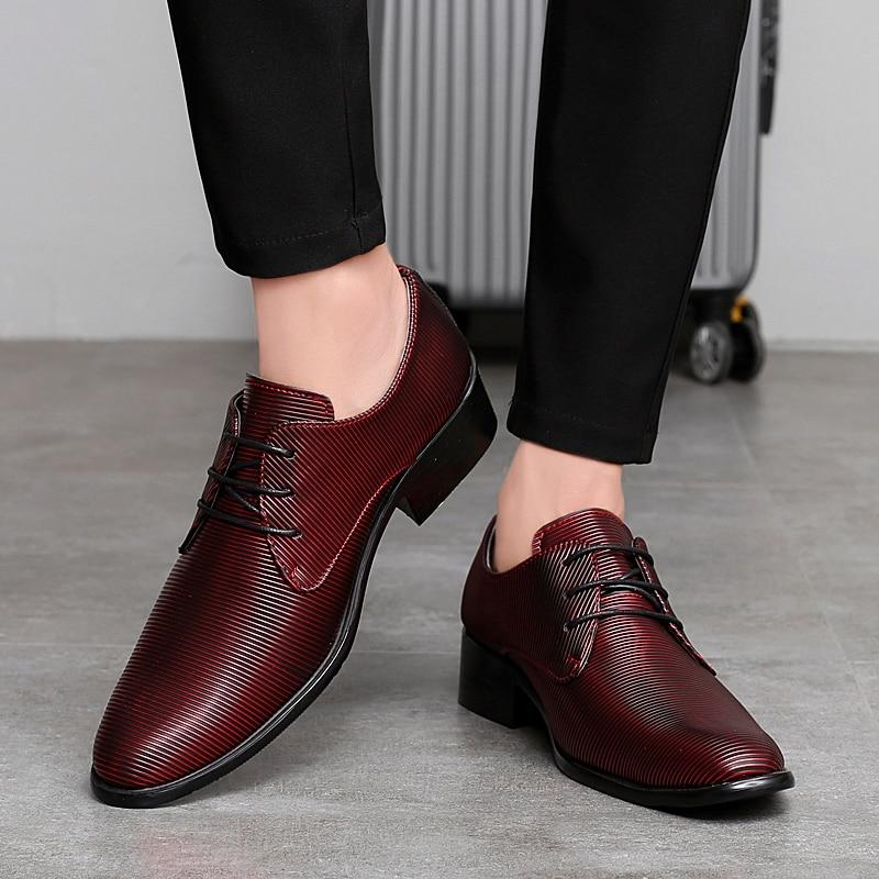 designer striped shoes men luxury brand fashion camouflage italian pointed male footwear designer man dress oxford shoes for men (31)