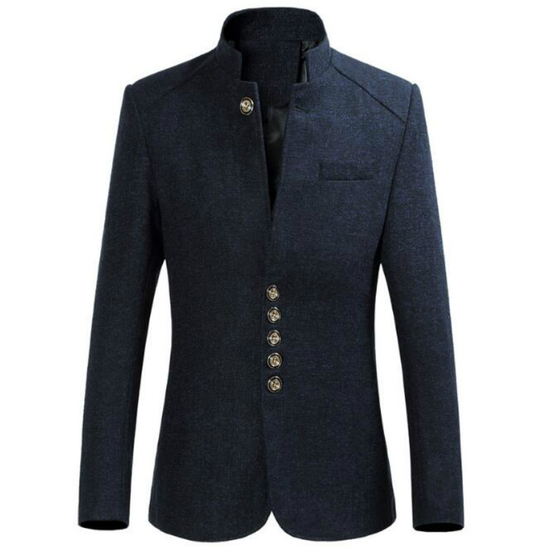 European and American style fashion new multi-button large size Slim solid color collar men's suit