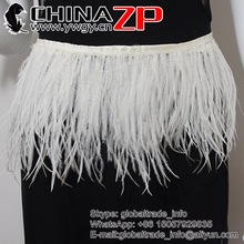 "CHINAZP Factory 1yard in Length Feather Width 5""-6"" (12.5cm-15cm) High Quality Ostrich Feather Trim Ribbon Cloth Belt"
