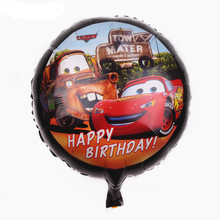 TSZWJ I-018 The new 18 in. Cars birthday party balloons decorated children's toys wholesale high quality balloon