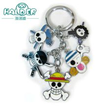Halder ONE PIECE Figures Anime Charms Key Chains Skull Skeleton Phone Strap Trinkets Accessories Gadgets Keychain For Woman