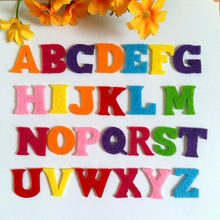200PCS/lot Padded Random Mixed Color Alphabet Shape Felt Appliques for kids accessories /decoration / craft  Sewing Supplies
