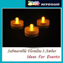 100Pcs LED White Submersible Floral Vase Super Bright Wedding Waterproof Decor Tea Light Underwater With 2  CR-2032 Batteries