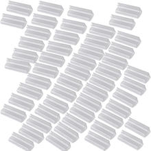 50pcs/lot Velcro Plastic Table Skirt Skirting Clips Desk Cloth Clamps Tableware Decor Wedding Party Restaurant Supplies