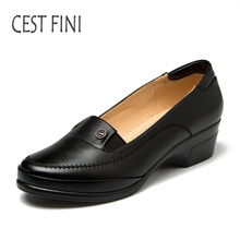 CESTFINI Women Flats Quality Comfortable Handmade Leather Ladies Shoes Soft Black Women Oxford Shoes Women Casual Shoes #F030