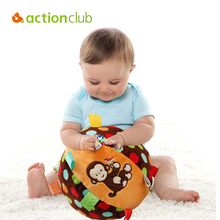 Actionclub Baby Toys Mobile Baby Educational Shaker Infantil Hands Feet Trainning Ball Bed Car Hanging Plush Shaking Rattle