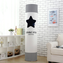 European Style Polyester Air Conditioner Cleaning Cover Dust Proof Home Decor Bird Fish Leaves Christmas Tree Tower Star 1PC