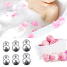 Behokic 12PCS DIY Bath Bomb Ball Shape Molds Aluminum Alloy Balls DIY Bathing Tool Accessories for DIY Homemade Bath Bomb Shape