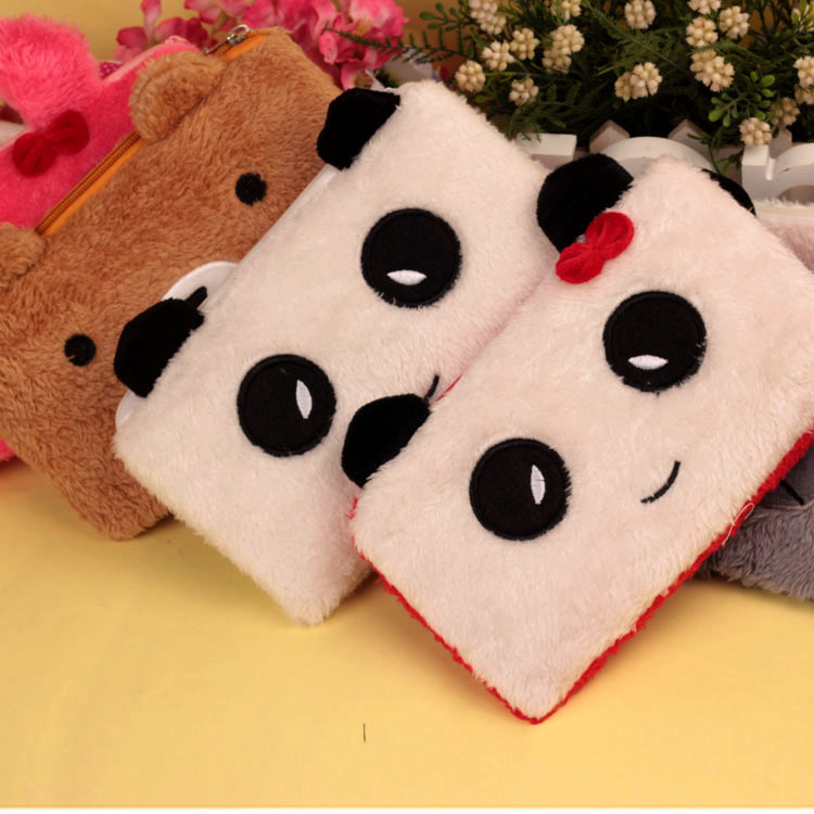 Bear pencil cases for girls Kawaii Plush panda pen bag stationery pouch kids gift school office supply Estuche 2