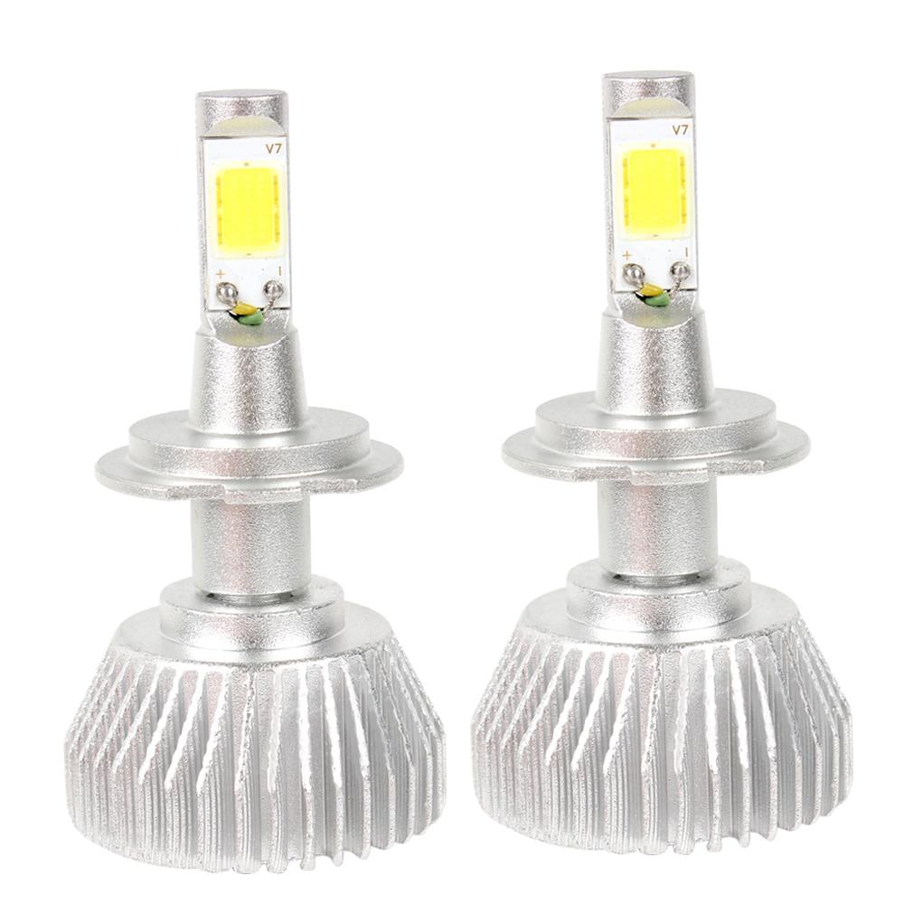 2pcs COB High Quality All In One H7 Conversion Light C6 series Head Light Car LED Headlight Headlamp #iCarmo<br><br>Aliexpress